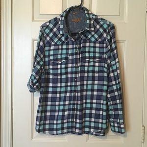 JACHS Girlfriend Bea Flannel Shirt